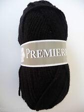 10 ovillos de lana acrílico color negro / fabricada en Francia
