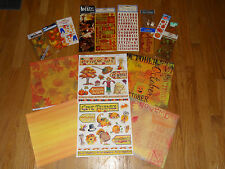 Autumn Scrapbooking Kit Paper Stickers Embelishments Fall Leaves Scarecrow