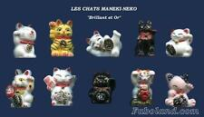 Feves Rares CHATS MANEKI-NECO PORTE BONHEUR Brillant et Or FB CATS AN757