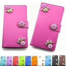 Strass Handy Tasche Schutz Hülle Flip Cover Klapp Etui Style Design Case B308