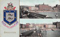 POSTCARD    SUSSEX  BRIGHTON  Metropole  Hotel &  Regency  Square  Coat of Arms