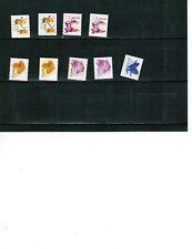 CANADA  2005-6 FLOWER DEFINITIVES #2129+&2195+ cat$20. mint like NO GUM LOT 805b