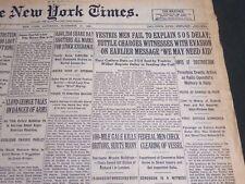1928 NOVEMBER 17 NEW YORK TIMES - VESTRIS MEN FAIL TO EXPLAIN SOS DELAY- NT 6932
