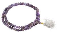 Spiritual Japa Mala Amethyst Beaded Rosery 109 Beads Reiki Meditation Prayer