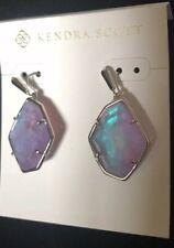 NWT Kendra Scott Dax Earring in Amethyst Dichroic Glass $70.00