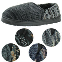 Muk Luks Christopher Men's Knit Sweater Ankle Slippers House Shoes