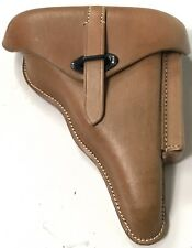 WWII WALTHER P38 HARDSHELL PISTOL HOLSTER- NATURAL LEATHER