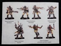 7 Traitor Guardsmen Blackstone Fortress Warhammer 40K Guard Abyss Chaos Damned