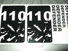 LAND ROVER DEFENDER 110  MINI SET panel bonnet TOOLBOX LAPTOP  Sticker SET
