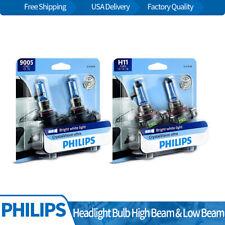 Philips 4pcs Headlight Light Bulb Hi/lo Beam Fits 2013-2015 Chevy Silverado 1500