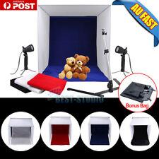 Portable Light Camera Photo Studio Kit Cube Tent Box Tripod Lighting 4 Backdrops