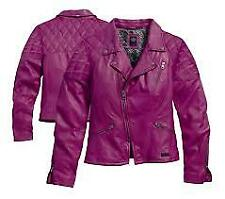 Harley-Davidson Womens Slim Fit Lambskin Leather Motorcycle Jacket Sz S Small