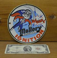 "ORIGINAL VINTAGE 6"" MALLORY DECAL STICKER HOT ROD DRAG RACING SCTA NHRA GASSER"