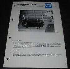 Technische Info Webasto Luftheizgerät HL 2011 MAN LKW Nahverkehrsfahrerhaus