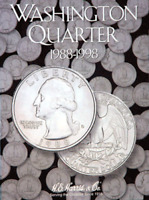 H.E. Harris Washington Quarter Coin Folder Book #4 1988-1998 #2691