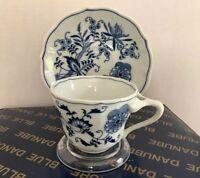 Vantage Blue Danube: One Set Of Tea Cup And Saucer - Japan