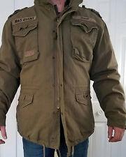 Brandit M65 Mens Field Jacket Warm Lining Hunting Parka Army Coat Olive XXL US
