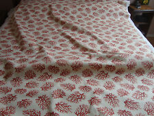 """WAVERLY SCHUMACHER """"CORAL TRELLIS"""", DRAPERY UPHOLSTERY COTTON, CORAL, BEIGE BTY"""