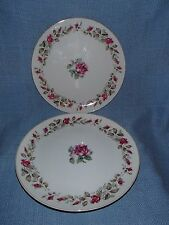 """2 ~ MOSS ROSE Pattern, Diamond China 9-1/4"""" Dinner Plate Made in Japan"""