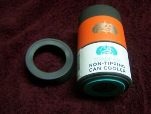 Toadfish Insulated Stainless Steel Non-Tipping Can Cooler ORANGE  WITH ADAPTER