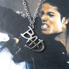 Michael Jackson collana con BAD logo in lega ciondolo 4cm x 2.8cm per MJ Fans141