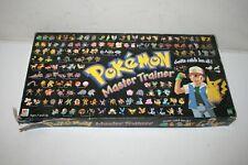 1999 POKEMON Master Trainer Board Game Set Hasbro Milton Bradley - Incomplete