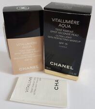 Chanel Vitalumiere Aqua Ultra Light Perfecting Foundation Makeup 30ml Beige 10