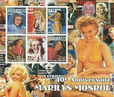 "Grandes Marilyn Monroe Hollywood Legend Menta desmontado Sello sheetlet - 8 ""x 7"""