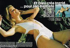 Coupure de Presse Clipping 2003 (4 pages) Top Model Igrid Seynhaeve