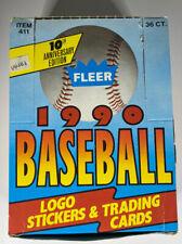 New listing 1990 Fleer Baseball Wax Box 36 Packs Sammy Sosa RC 2nd Year Ken Griffey Jr