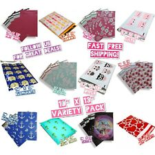 120 Mix Design 10x13 Poly Mailers Variety Pack (10 ea) Shipping Envelopes