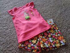 GYMBOREE girl's NWT sz 5 ALOHA hula dancer/flower shorts/shirt cotton outfit