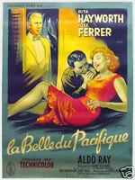 Miss Sadie Thompson Rita Hayworth movie poster print