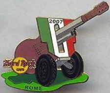 """Hard Rock Cafe ROME 2007 Festa Della Guitar Canon ERROR PIN """"HOOTERS"""" Back 41578"""