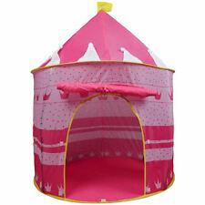 Rose Portable pliant princesse tente de jeu pour enfants Château Cubby Playhouse