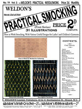 Weldon's 2D #19 c.1886 Practical Smocking (1st Series) Vintage Instructions