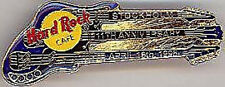 Hard Rock Cafe STOCKHOLM 1996 11th Anniversary BLUE PIN - Triple Neck Guitar