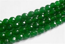 """AAA+++ 8mm Natural Faceted Green Emerald Loose Beads Gemstone 15"""""""