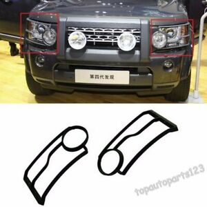 Fit 2010-2013 Land Rover LR4 Discovery 4 Front Head Light Lamp Guards Cover 2pcs