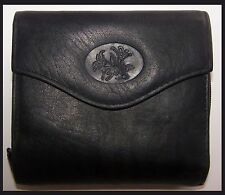 Buxton LEATHER Heiress Credit Card Wallet in Black