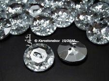 1 Schmuck Knopf Zierknopf Strassknopf Knöpfe 25mm Crystal Aufnähsteine