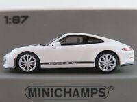Minichamps 870 066226 Porsche 911 R (2016) in weiß/schwarz 1:87/H0 NEU/OVP