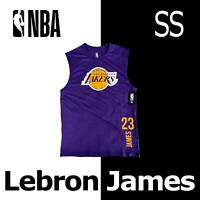 "LEBRON JAMES ""23"" NBA SLEEVELESS SHIRT LOS ANGELES LAKERS TANK VXM8647S MEDIUM"