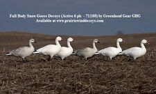 Full Body Snow Goose Active Decoys 6pk 71188 by Greenhead Gear GHG Prairiewind