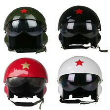 Air Force Pilot Flight Helmet Motorcycle Scooter Helmet Double Visors Open Face