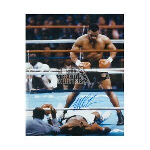 Mike Tyson Autographed 16x20 91 Second Knockout Pose - JSA COA