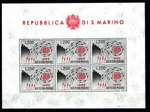 SAN MARINO 1962 FOGLIETTO EUROPA