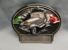 grey antique car resin oval plaque car show trophy Bt793 (G5) 3 car award