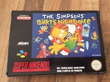 "Super Nes:   THE SIMPSONS ""Bart's nightmare""     PAL EUR"