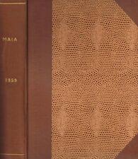 MAIA. RIVISTA DI LETTERATURE CLASSICHE vol.XI anno XI n.s.